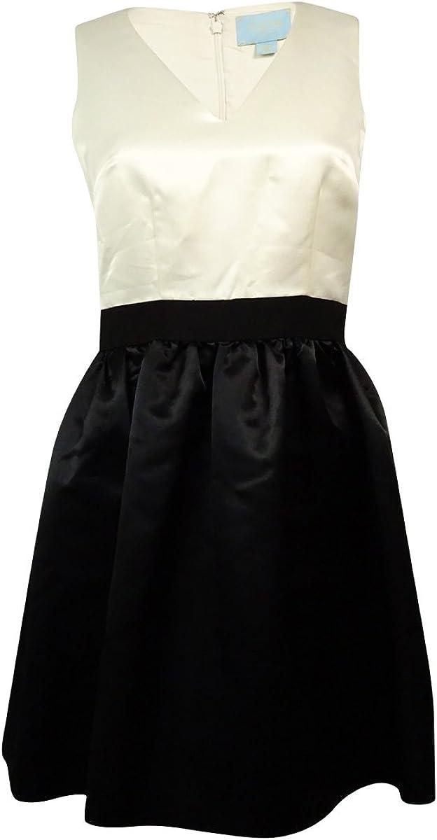 CeCe by Cynthia Steffe Women's Sharon Sleeveless Colorblock A-line Dress