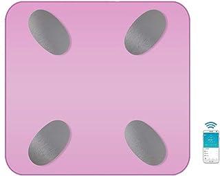 DSAEFG Báscula de grasa corporal inteligente Bluetooth avanzada, báscula de baño Bluetooth digital báscula de peso corporal para pérdida de peso fitness seguimiento APP negro (color: rosa)