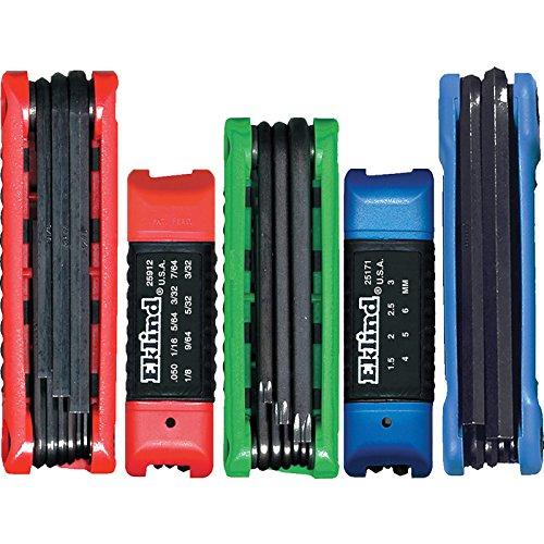 EKLIND 25036 Ergo-Fold Fold-up Hex Key allen wrench Combo- Inch/MM/TORX star (5 sets 36pc)