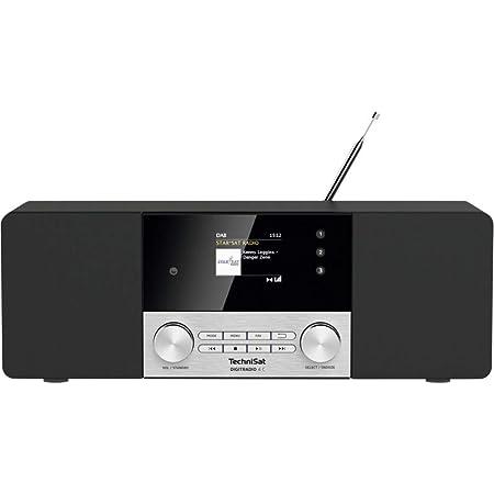 Technisat Digitradio 4 C Stereo Digital Radio Dab Ukw Farbdisplay Bluetooth Audiostreaming Kopfhöreranschluss Aux Eingang Radiowecker Oled Display 20 Watt Rms Elac Lautsprecher Schwarz Heimkino Tv Video