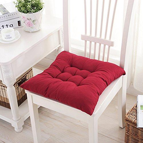 Baozengry Location De Chaise D'Ordinateur De Bureau Le Coussin,40X40Cm,Oxblood Red
