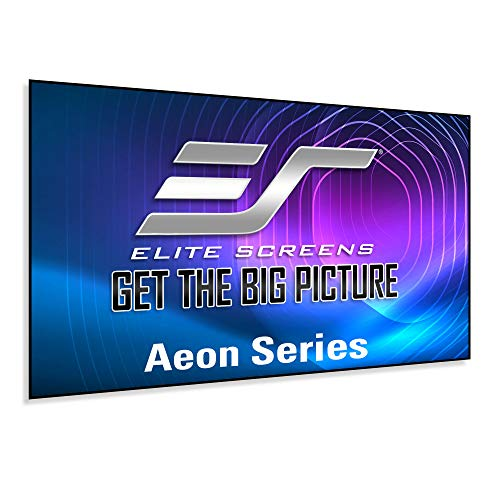 Elite Screens Aeon Series, 110-inch 16:9, 8K / 4K Ultra HD Home Theater Fixed Frame EDGE FREE Borderless Projector Screen, CineWhite UHD-B Front Projection Screen, AR110WH2