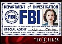X-Files Scully FBIバッジフォトマグネット