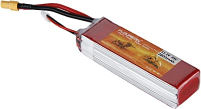 FLOUREON 3S 11.1V 2800mAh 35C Lipo Battery Rechargeable RC Battery with XT60 Plug for FPV Drone, RC Airplane, Helicopter, RC Car, Truck, RC Boat, DIY RC Hobby and More