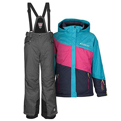 Killtec Skianzug Frauen Damenskianzug Skijacke Acelya Azur + Skihose Hila grau Gr. 42