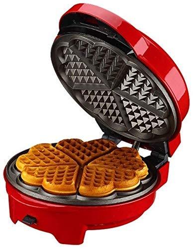 Wafflera con placas desmontables Comida de la mañana la estación de parrilla o sandwichera tostadora con Revestimiento antiadherente for el desayuno, el almuerzo o snacks (Color: Rojo) fangkai77