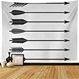 Tapestry Wall Hanging Arrows Set Bow Forward Archer Symbol Aim Sport Retro Signs Symbols Longbow Hunt Sports Recreation Home Decorations for Bedroom Dorm Decor 60x60 Inch