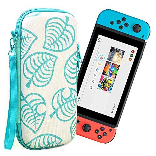 Ztowoto Funda de Transporte Compatible con Nintendo Switch, la última Funda Protectora portátil endurecida Nintendo Switch Style Nintendo Style para niñas y niños (Nintendo Switch-Green)