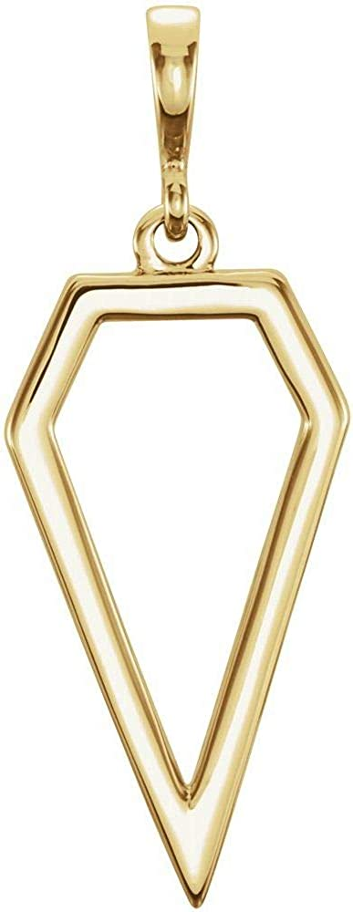 High quality Year-end annual account 14k Yellow Gold Geometric Pendant Necklace