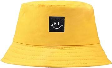 kHVeam Cotton Bucket hat Unisex Wide Brim Outdoor Summer hat Hiking Beach Sports Fishing Cap