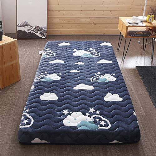Yangdan Materasso - Letto imbottito Dadi Singolo Studente Dormitorio Tatami Double Home Mat è stato pavimentato Sleeping Mat (colore : A1, Dimensioni: 10 cm di spessore × 100 × 200 cm)