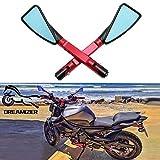 DREAMIZER 8mm 10mm Espejo del Extremo del Manillar de la Motocicleta, Triángulo...