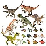 恐竜フィギュア おもちゃ 恐竜おもちゃ リアルな恐竜おもちゃ 恐竜遊び18点セット 子供おもちゃ 定番おもちゃ 子供の誕生日ギフト 祝いプレゼント
