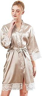 89026e3a Amazon.es: Pijamas De Mujer De Seda - Beige / Batas y kimonos / Ropa ...