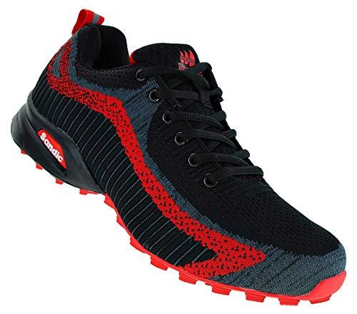 Sandic 139 Neon Turnschuhe Sneaker Sportschuhe Herren, Schuhgröße:42