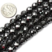 5X8mm Magnetic Hematite Faceted Tube Mh71