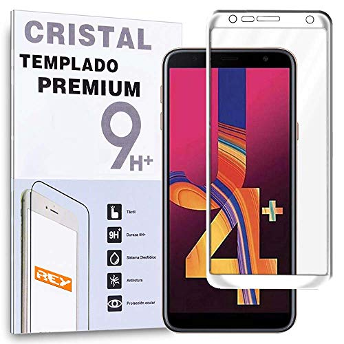 REY Protector de Pantalla 3D para Samsung Galaxy J4 Plus 2018 -...