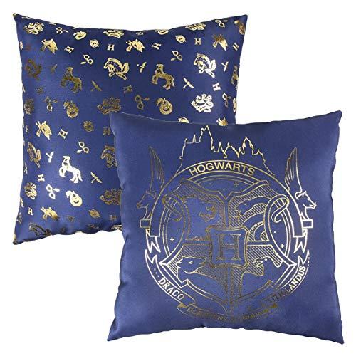 Harry Potter Cuscino Premium Hogwarts, Blu, 30 x 30 cm