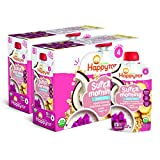 Happy Tot Organics Super Morning Stage 4 Dairy Free, Bananas, Dragon Fruit, Coconut Milk & Oats + Super Chia, 4 Ounce Pouch (Pack of 16)