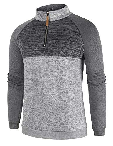 Men Active Pullover Sporty Cycling Running Quick Dry Top Shirts Men Sweatshirt Casual Loose Sweater Autumn Outwear Gray