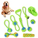 <span class='highlight'><span class='highlight'>Xiluck</span></span> Dog Rope Toys,Puppy Toy Set,Cotton Rope Knot Dog Chew Puppy Toy Set for Tooth Cleaning Interaction Toys Kit For Pet Small Medium Dogs Cats,Green(8 Pack)