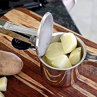 كاسوو - بطاطس خفاش و مصافي - ستانلس ستيل فضي بطاطا ماهراسة خضروات و عصارة فواكه أدوات طبخ للمطبخ