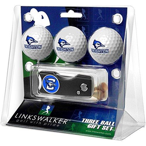 sports fan golf gift sets LinksWalker Creighton University Bluejays - Spring Action Divot Tool 3 Ball Gift Pack