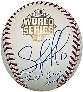 Salvador Perez Kansas City Royals Autographed 2015 World Series MVP Authentic Signed Baseball JSA COA With UV Display Case
