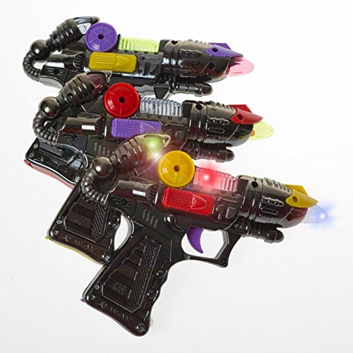 Rhode Island Novelty 7 Inch Light and Sound Laser Blaster One Per Order