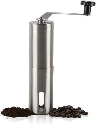 コニカルバーミル付きポータブルウォッシャブルマニュアルブラシ付きステンレススチールコーヒーグラインダー