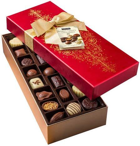 Belgian Luxury Chocolates 46 Piezas - 570 Gr. En Caja Regalo.