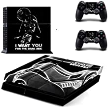 PS4 Pro Skin - Slim skins sticker - Star Wars Darth Vader PS4 Skin Sticker Decal for Sony PlayStation 4 Console and 2 Controller Skin PS4 Sticker Vinyl Accessory - Type A35