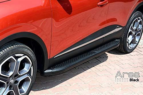 Trittbretter passend für Opel Mokka und Mokka X ab Baujahr 2012 Model Ares in Schwarz mit TÜV und ABE