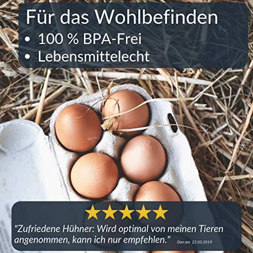 Futterautomat mit Füßen, 2, 4 oder 8 Kg grün I Hühner, Geflügel Futterspender I Automatischer Spender für Hühnerfutter I Futterstation aufhängbar I Wasserdichter Automat I Zubehör Zucht, Farming - 3