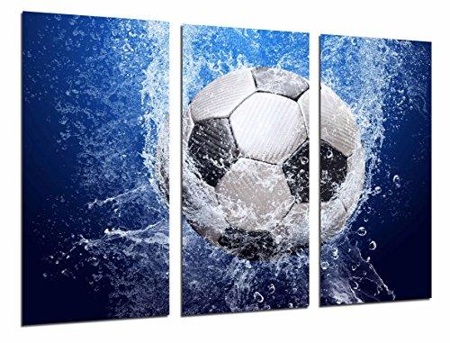 Cuadros Cámara Cuadro Fotográfico Balon de futbol Impacto en el Agua, 97 x 62 cm XXL