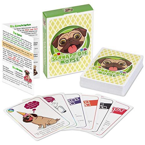 Schnapp die Möpse - lustiges Kartenspiel für Gute Freunde und angeregte Spieleabende - Das Mopsspiel (54 Karten)