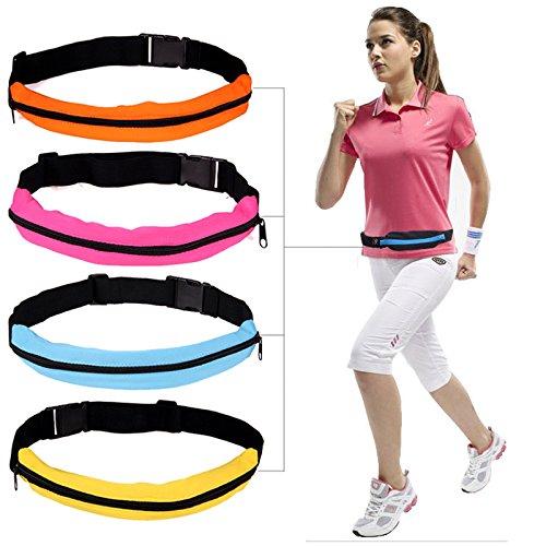 HuntGold 1X Sports Gym sac de taille sac de téléphone avec fermeture à glissière pour le jogging(Jaune)