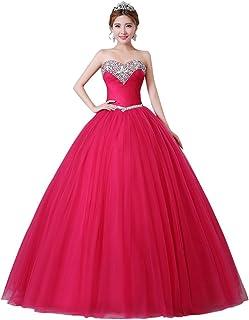 Beauty-Emily Vestidos de boda de bola del amor sin tirantes sin mangas diamante de imitación