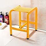 Guo Shop- Multifunktions-Badezimmer-Schemel-Alter Mann-Schwangere Frauen-Rutschfeste Sicherheits-Speicher, zum des Schuh-Schemels Badezimmer-Stuhl zu ändern (Farbe : Gelb)