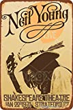 1971 Neil Young Live Shakespeare Theatre Cartel de letrero de metal, placa retro, arte, aspecto...