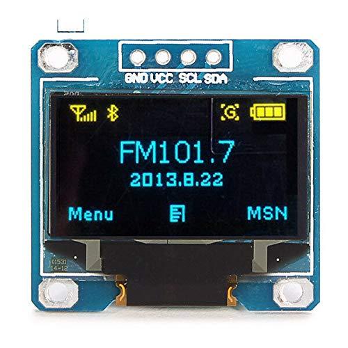 PULLEY -L 2 Stück 2,4 cm (0,96 Zoll), 4-polig, blau-gelb, IIC I2C OLED Display-Modul für Arduino L