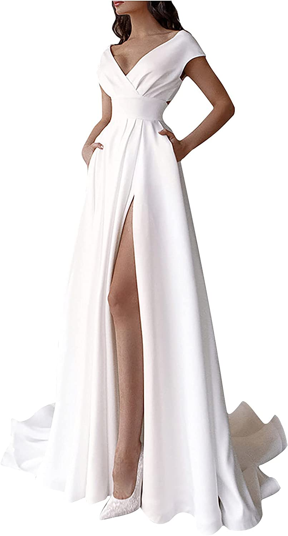 Peigen Womens Free Shipping New Long Formal 2021 Dresses Elegant N Casual Solid V Color