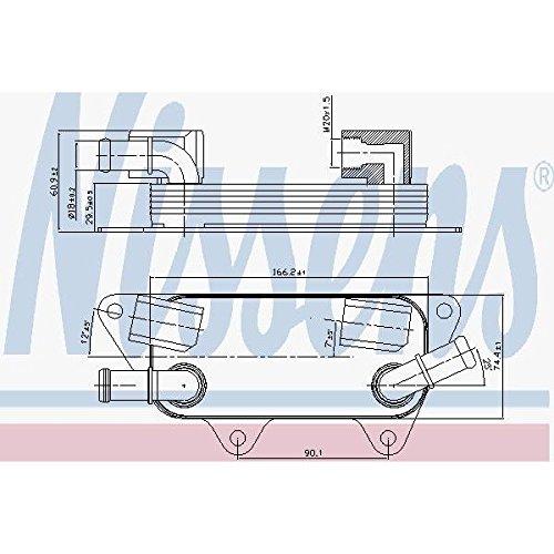 Nissens 90789 Radiateur d'huile de moteur