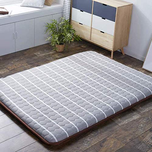 Tatami Sleeping Mat Japanese Portable Folding Mattress Mat Soft Breathable Futon Mattress for Student Dormitory Bedroom Mattress Gray 180x200cm (71x79in)