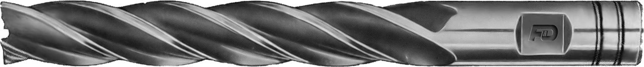 3.625 Overall Length 1.625 Flute Length F/&D Tool Company 18116-F326 Multiple Flute End Mill Single End 3//4 Mill Diameter 1//2 Shank Diameter High Speed Steel 4 Number of Flutes