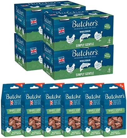 BUTCHER'S Wet Dog Food Tin Cans Grain Free Tripe Mix 9.6kg (24 x 400g)