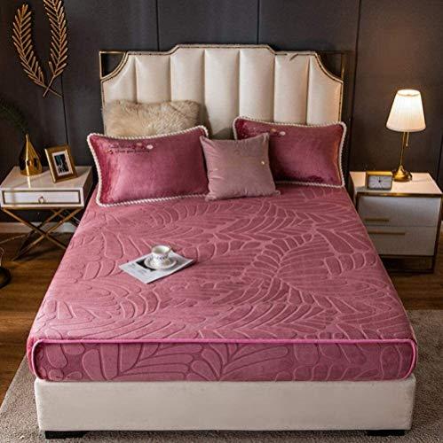 Hojas de cama doble, Venta de oro Velvet Hoja ajustada para...