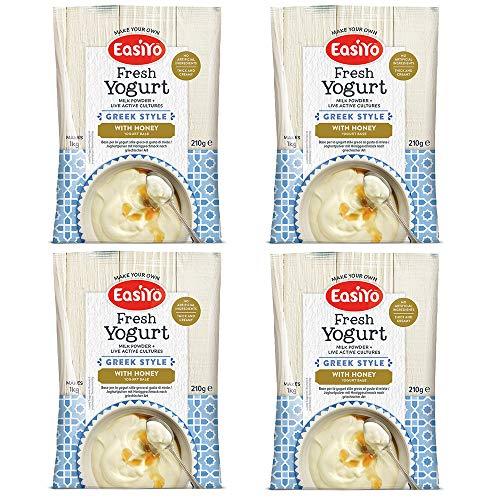 EasiYo Indulgence Greek Style with Honey Yogurt Mix - Pack of 4
