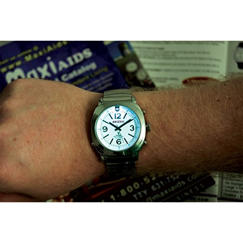 Reizen Talking Atomic Watch with Top Light - Expansion Band
