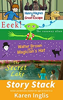 Story Stack: Action-packed story starters for ages 6-8 and 9-12 by [Karen Inglis, Damir Kundalic]